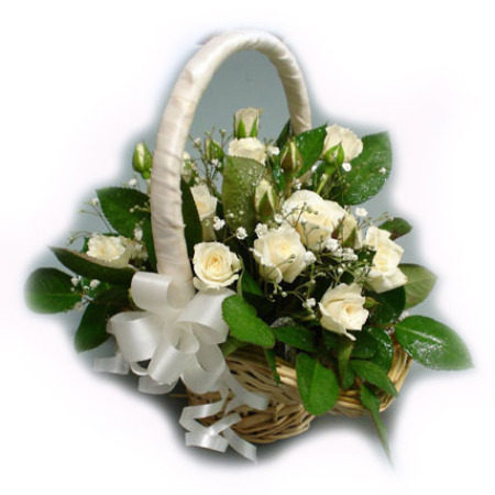 Wedding Flower Girl Basket 01