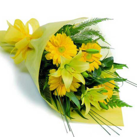 WOW 01 - Yellow Posy for Your special mother