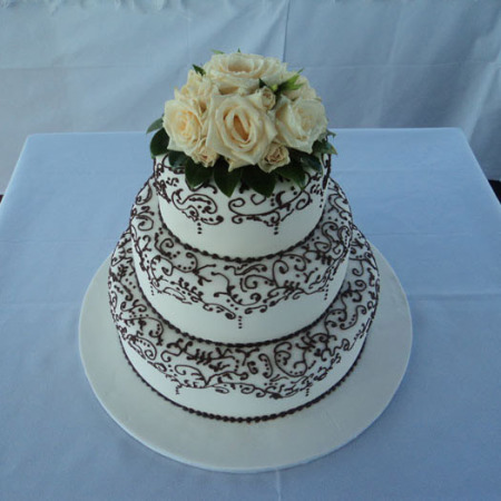 Wedding Cake Flower Decoration 03