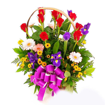 AR 09 - Country Garden Basket Arrangement
