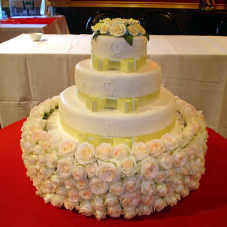 Wedding Cake Flower Decoration 01