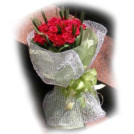 Val 05 - 10 Sisal Netting Rose Bouquet