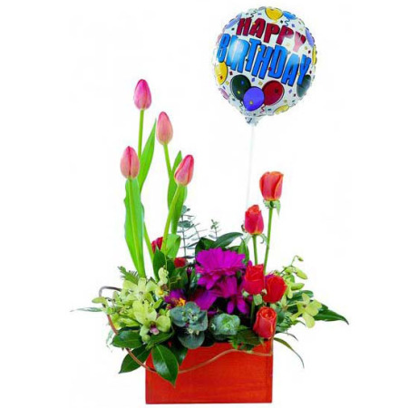 BI 09 - Red Tulip Balloon Box