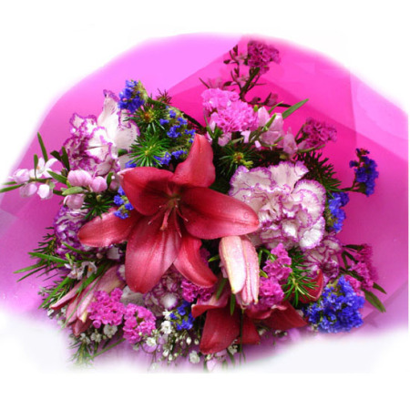 BI 01 - Purple and Pink Birthday Bouquet