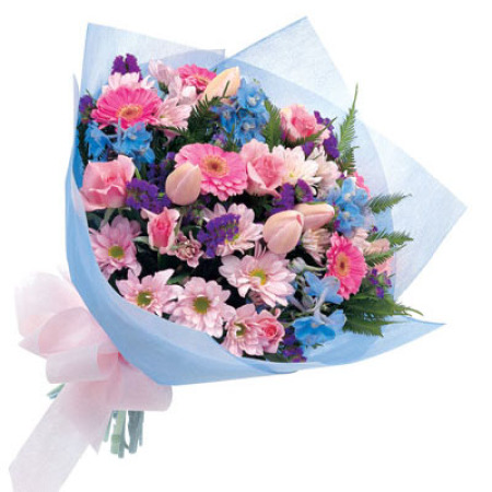 BQ 10 - Soft pink and Purple Posy