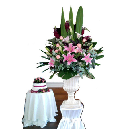 Wedding Reception Flower Decoration 01