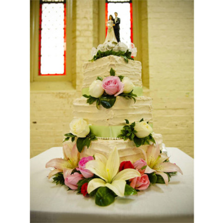 Wedding Cake Flower Decoration 04