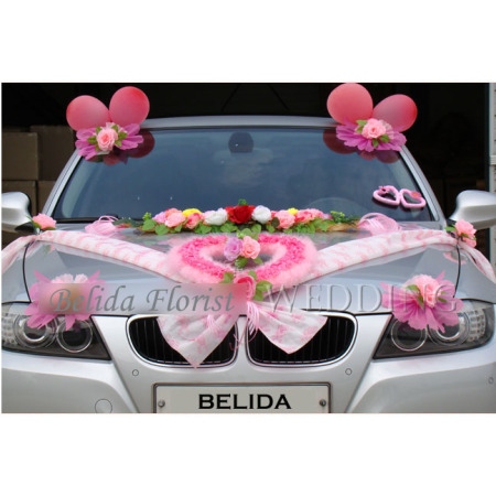 Wedding Car Decoration (Front side)