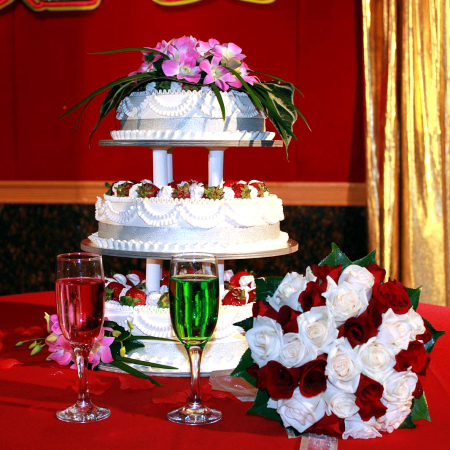 Wedding Cake Flower Decoration 10