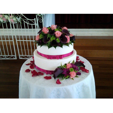 Wedding Cake Flower Decoration 06